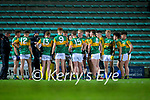 The Kerry team during during a water break at the Munster Minor Semi-Final between Kerry and Cork in Austin Stack Park on Tuesday evening.