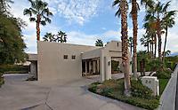 Facade of contemporary home