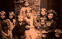 London:  Historical East End--Orphans in National Children's Home, Bethnal Green, c. 1880. Fishman, STREETS OF EAST LONDON.   Refernece only.