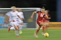 San Diego, CA - Sunday January 21, 2018: Christen Press prior to an international friendly between the women's national teams of the United States (USA) and Denmark (DEN) at SDCCU Stadium.