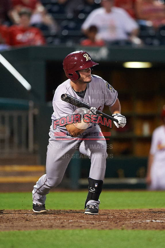 Frisco RoughRiders first baseman Trever Adams (29) squares to bunt during a game against the Springfield Cardinals  on June 4, 2015 at Hammons Field in Springfield, Missouri.  Frisco defeated Springfield 8-7.  (Mike Janes/Four Seam Images)