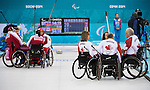 Sochi, RUSSIA - Mar 15 2014 - Canada takes on Russia in the Gold Medal Wheechair Curling match at the 2014 Paralympic Winter Games in Sochi, Russia.  (Photo: Matthew Murnaghan/Canadian Paralympic Committee)