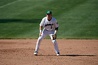 Beloit Snappers third baseman Trace Loehr (3) during a game against the Bowling Green Hot Rods on May 7, 2017 at Pohlman Field in Beloit, Wisconsin.  Bowling Green defeated Beloit 6-2.  (Mike Janes/Four Seam Images)