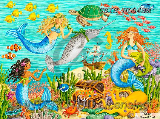 Ingrid, CHILDREN, KINDER, NIÑOS, paintings+++++,USISNL04SM,#k#, EVERYDAY,mermaid,treasure