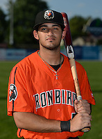 Aberdeen IronBirds outfielder Jay Gonzalez (51) poses for a photo before a game against the Williamsport Crosscutters on August 4, 2014 at Bowman Field in Williamsport, Pennsylvania.  Aberdeen defeated Williamsport 6-3.  (Mike Janes/Four Seam Images)