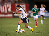 Sydney Leroux (2) of the USWNT brings the ball forward during an international friendly at RFK Stadium in Washington, DC.  The USWNT defeated Mexico, 7-0.
