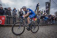 later winner Niki Terpstra (BEL/Quick Step Floors) up the 3th passage of the Oude Kwaremont.<br /> <br /> 102nd Ronde van Vlaanderen 2018<br /> 1day race: Antwerp › Oudenaarde - BEL (265k)