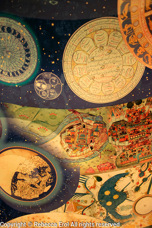 Ceiling at the Museum of the History of Islamic Science and Technology, Istanbul, Turkey