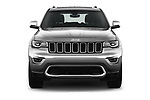 Car photography straight front view of a 2018 Jeep Grand-Cherokee Limited 5 Door SUV