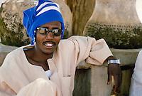 - Northern Sudan, man at the market of Karima village....- Sudan settentrionale, uomo al mercato del villaggio di Karima..