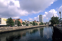 Uffet River and skyline, Dublin, Ireland