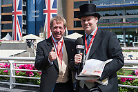 Commentator Derek Thompson (L) during The Coronation Stakes Day of Royal Ascot 2017 at Royal Ascot Racecourse on Friday 23rd June 2017 (Photo by Rob Munro/Stewart Communications)