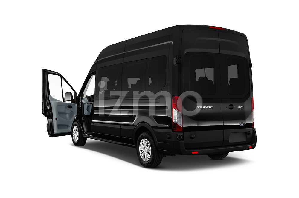 Car images close up view of a 2019 Ford Transit Wagon 350 XLT Wagon High Roof Pass Slide 148WB 5 Door Passenger Van doors