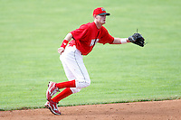 July 19, 2009:  Shortstop Ryan Jackson of the Batavia Muckdogs during a game at Dwyer Stadium in Batavia, NY.  The Muckdogs are the NY-Penn League Short-Season Class-A affiliate of the St. Louis Cardinals.  Photo By Mike Janes/Four Seam Images