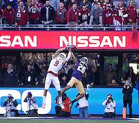 Sidney Jones breaks up a pass.