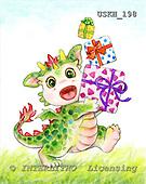 Kayomi, CUTE ANIMALS, paintings, LittleDragon_M, USKH198,#AC# illustrations, pinturas ,everyday
