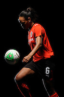 Kia McNeill of the Atlanta Beat during a Women's Professional Soccer photo shoot in Brooklyn, New York on February 17, 2010.