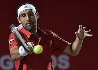 BOGOTA -COLOMBIA. 22-07-2015. Marcos Baghdatis (CYP) durante juego contra Alejandro Gomez (COL) de primera ronda del ATP Claro Open Colombia 2015 jugado en el Centro de Alto Rendimiento en Bogota./ Marcos Baghdatis (CYP) during match against Alejandro Gomez (COL) for the first round of ATP Claro Open Colombia 2015 played at Centro de Alto Rendimiento in Bogota city. Photo: VizzorImage/ Gabriel Aponte / Staff