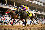 JULY 28: Ollie's Candy with Kent Desormeaux inside outlasts Secret Spice and Flavien Prat to win the Clement L Hirsch Stakes at The Del Mar Thoroughbred Club in Del Mar, California on July 28, 2019. Evers/Eclipse Sportswire/CSM