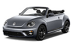 2017 Volkswagen Beetle Design 2 Door Convertible Angular Front stock photos of front three quarter view