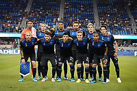 SAN JOSE, CA - SEPTEMBER 26: San Jose Earthquakes starting XI during a Major League Soccer (MLS) match between the San Jose Earthquakes and the Philadelphia Union on September 26, 2019 at Avaya Stadium in San Jose, California.