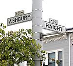 Haight Asbury Intersection, Street Signs, San Francisco, California