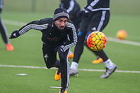 Thursday  21 January 2016<br /> Pictured: Leon Britton of Swansea in action during training <br /> Re: Swansea City Training Session at the Fairwood training ground