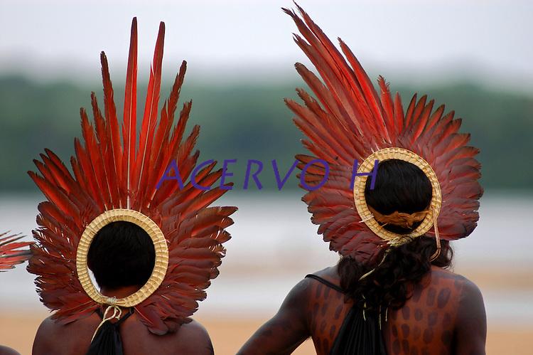 III Jogos Tradicionais Indígenas do Pará, que este ano conta com a participação de 16 etnias de 4 estados,   <br /> Conceição do Araguaia, Pará, Brasil<br /> 23/08/2006.Foto Paulo Santos.