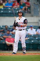 Arkansas Travelers catcher Tyler Marlette (30) at bat during a game against the Frisco RoughRiders on May 26, 2017 at Dickey-Stephens Park in Little Rock, Arkansas.  Arkansas defeated Frisco 4-2.  (Mike Janes/Four Seam Images)