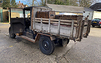 BNPS.co.uk (01202) 558833. <br /> Pic: H&HAuctioneers/BNPS<br /> <br /> A Citroen truck that is believed to have been used by the French Resistance during World War Two has sold for almost £9,000.<br /> <br /> The vehicle was converted from a 1924 Citroen B12-9cv Camionnette car and driven by rebels fighting the Nazi occupation of France.<br /> <br /> It has a symbol of the movement painted on one of the doors, as well as the letters 'FFI', standing for French Forces of the Interior.<br /> <br /> The motor was previously discovered among brambles on a French vineyard by a British tourist in the 1990s in a terrible state of disrepair