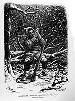 FILE IMAGE - French-Canadian volunteer<br /> <br /> Drawing by dupuis