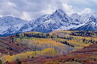 Wolcott Mountain, Sneffels Range <br />   from Dallas Divide<br /> San Juan Mountains<br /> Rocky Mountains,  Colorado