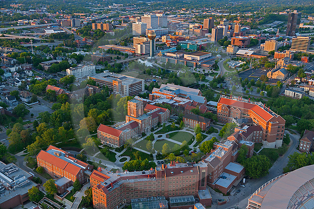 Downtown Knoxville and  UTK Campus