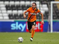 11th September 2021; Swansea.com Stadium, Swansea, Wales; EFL Championship football, Swansea versus Hull City; Lewie Coyle of Hull City brings the ball forward