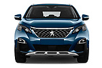 Car photography straight front view of a 2017 Peugeot 5008 GT Line 5 Door SUV