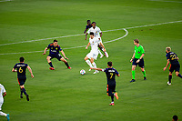 CARSON, CA - JUNE 19: Sacha Kljestan #16 of the Los Angeles Galaxy moves with the ball during a game between Seattle Sounders FC and Los Angeles Galaxy at Dignity Health Sports Park on June 19, 2021 in Carson, California.