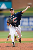 Relief pitcher Matt Packer #15 of the Virginia Cavaliers in action versus the Florida State Seminoles at Durham Bulls Athletic Park May 24, 2009 in Durham, North Carolina. The Virginia Cavaliers defeated the Florida State Seminoles 6-3 to win the 2009 ACC Baseball Championship.  (Photo by Brian Westerholt / Four Seam Images)