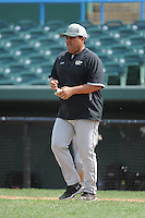 University of South Florida Bulls manager Lelo Prado during a game against the Temple University Owls at Campbell's Field on April 13, 2014 in Camden, New Jersey. USF defeated Temple 6-3.  (Tomasso DeRosa/ Four Seam Images)