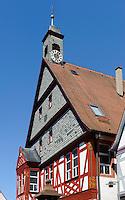 Altes Rathaus = Bürgerhaus (von 1600) in Wörth am Main, Bayern, Deutschland