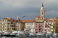 - waterfront houses and tourist port of Oneglia (Imperia)<br /> <br /> - case lungomare e porto turistico di Oneglia (Imperia)