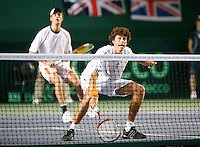 7-4-07, England, Birmingham, Tennis, Daviscup England-Netherlands, Rogier Wassen and Robin Haase in the doubles