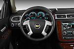 Steering wheel view of a 2012 Chevrolet Suburban LTZ