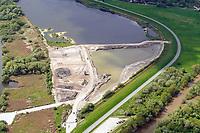 Kreetsand: EUROPA, DEUTSCHLAND, HAMBURG 20.05.2021: Tiedeelbe Konzept Kreetsand, Hamburg Port Authority (HPA), soll auf der Ostseite der Elbinsel Wilhelmsburg zusaetzlichen Flutraum für die Elbe schaffen. Das Tidevolumen wird durch diese strombauliche Massnahme vergroessert und der Tidehub reduziert. Gleichzeitig ergeben sich neue Moeglichkeiten für eine integrative Planung und Umsetzung verschiedenster Interessen und Belange aus Hochwasserschutz, Hafennutzung, Wasserwirtschaft, Naturschutz und Naherholung.
