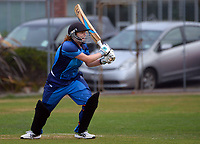 Hutt's Sophie Telfer bats during the Wellington women's Maureen Peters T20 competition cricket final between Wellington Collegians and Hutt District at Anderson Park in Wellington, New Zealand on Saturday, 28 March 2021. Photo: Dave Lintott / lintottphoto.co.nz