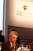 Angel Maria Villar, President of RFEF, during General Assembly of the Royal Spanish Football Federation. March 22,2016. (ALTERPHOTOS/Acero)