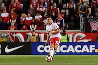 Harrison, NJ - Wednesday Feb. 22, 2017: Aaron Long during a Scotiabank CONCACAF Champions League quarterfinal match between the New York Red Bulls and the Vancouver Whitecaps FC at Red Bull Arena.