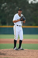 Pittsburgh Pirates pitcher Mason Ward (19) gets ready to deliver a pitch during an Instructional League game against the New York Yankees on September 28, 2017 at Pirate City in Bradenton, Florida.  (Mike Janes/Four Seam Images)