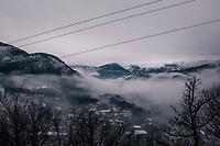 misty day for racing<br /> <br /> 76th Paris-Nice 2018<br /> Stage 7: Nice > Valdeblore La Colmiane (175km)