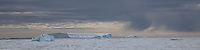 Storm clouds in Antarctica