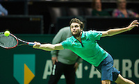 Rotterdam, The Netherlands, Februari 11, 2016,  ABNAMROWTT, Gilles Simon (FRA)<br /> Photo: Tennisimages/Henk Koster